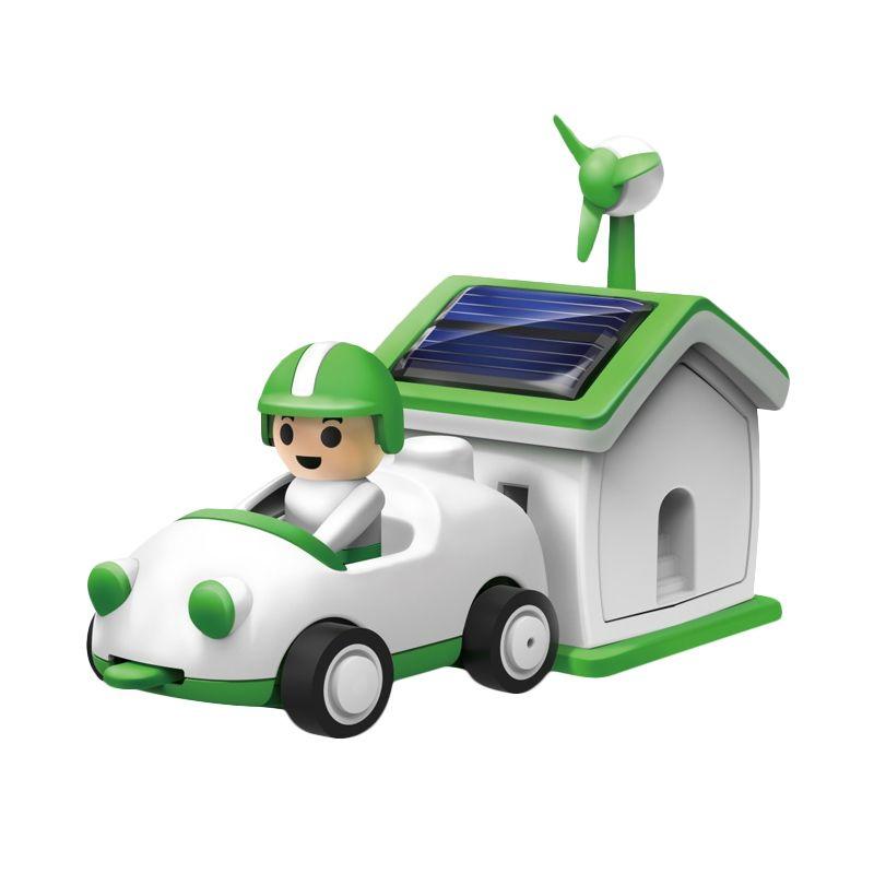Solar Robot Mobil Rumah Life Kit Mainan Anak