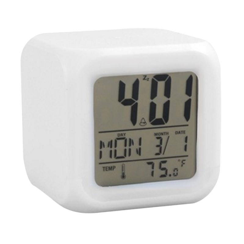 harga Toko49 Moody Kubus HHM117 Jam Alarm with Pengukur Suhu  Berubah 7  Warna  Blibli 07b53b8ec3