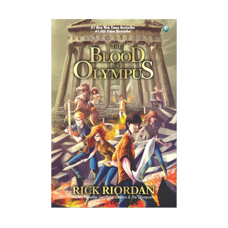 Toko Baca The Heroes of Olympus 5 The Blood of Olympus by Rick Riordan Buku Fiksi