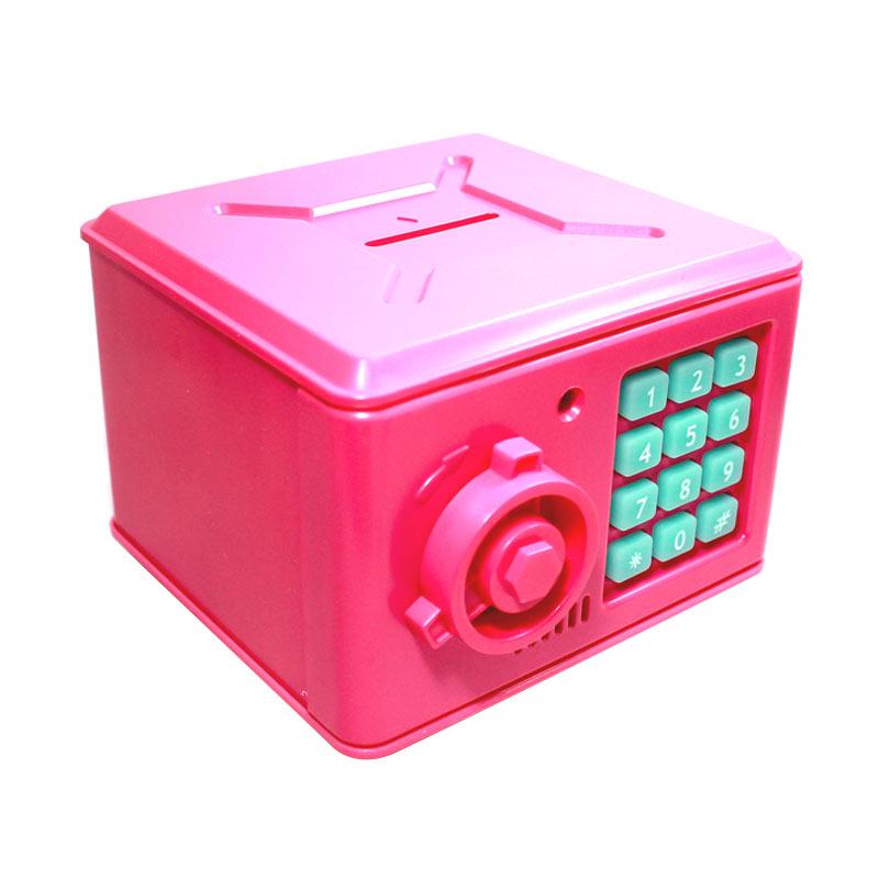Tokokadounik Home Mini Brankas Celengan - Pink