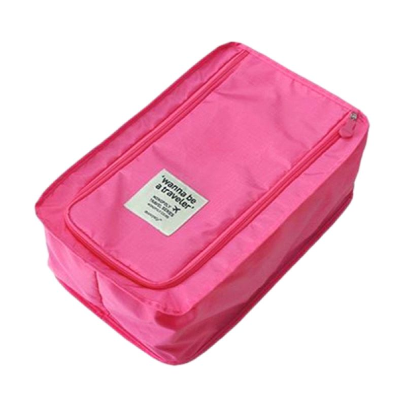 Kalno Pink Travelling Shoe Bag