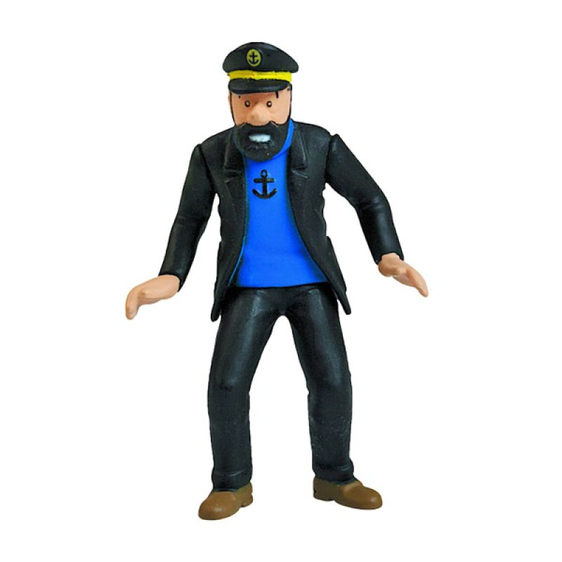 Herge Original Captain Archibald Haddock Hitam Action Figure [1:100]