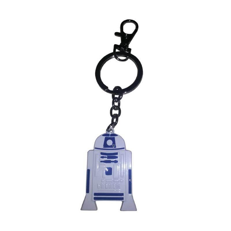 Fantasia Gantungan Kunci Starwars R2D2 Putih Action Figure