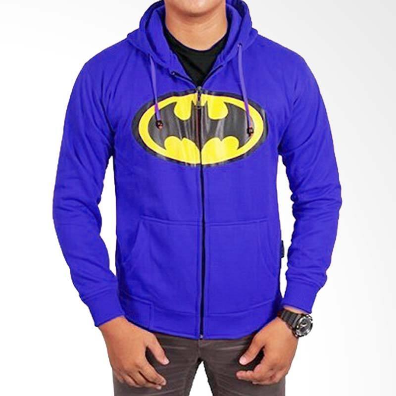 Fantasia Hoodie Batman Biru Jaket Pria