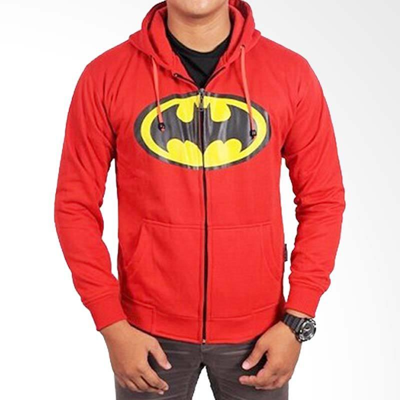 Fantasia Hoodie Batman Merah Jaket Pria
