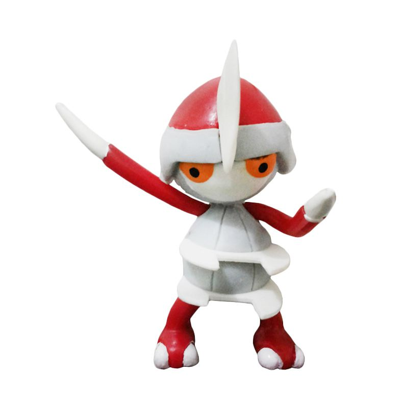 Fantasia Pokemon Pawniard Merah Putih Action Figure