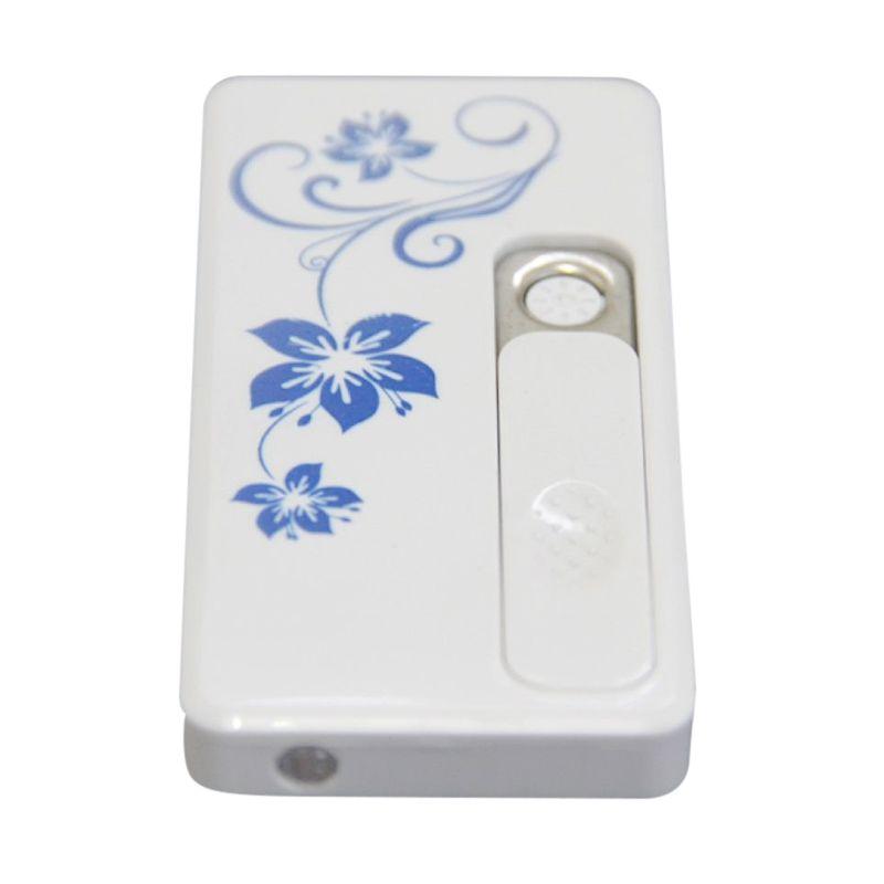 Electric Lighter Putih Korek Api Elektrik [2 in 1/Rechargeable]