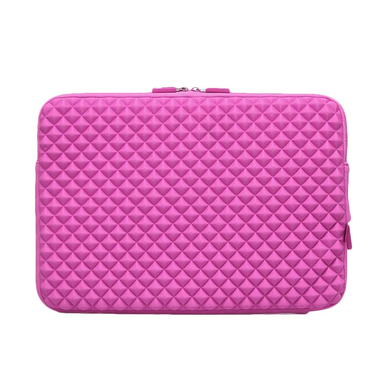 Gearmax Premium GM1703 Original Diamond Lycra Fabric Sleeve Case Bag for Notebook/Tablet/Macbook/Surface/iPad - Pink [13.3 Inch]