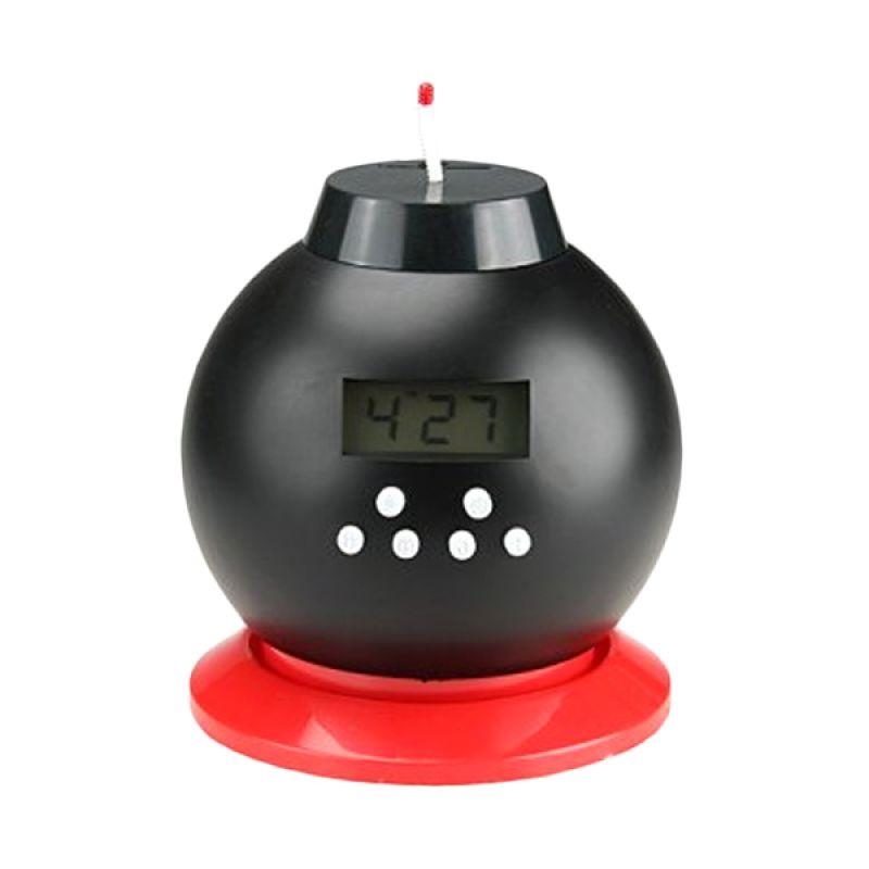 Tokuniku Bomb Hitam Alarm Clock dan Celengan