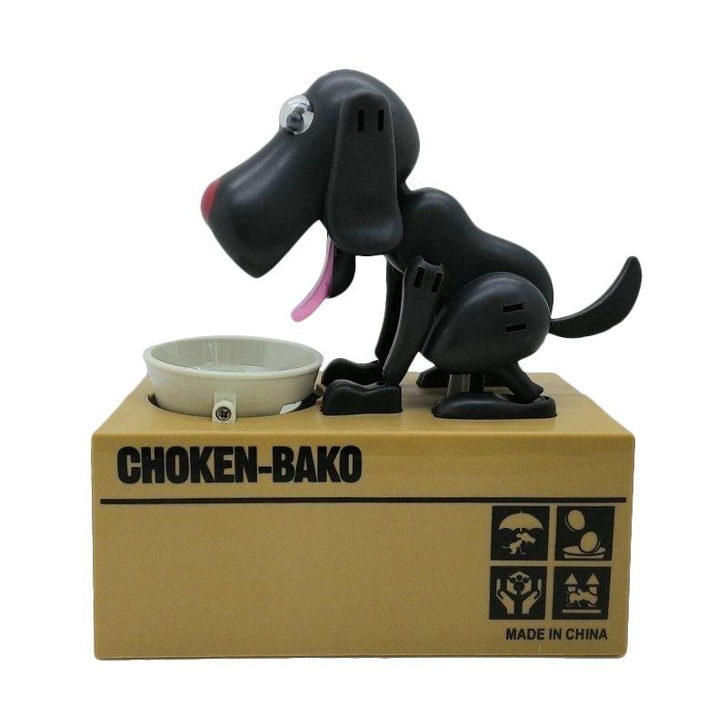 Tokuniku Choken Bako Celengan Anjing Pemakan Koin Hitam Mainan Anak