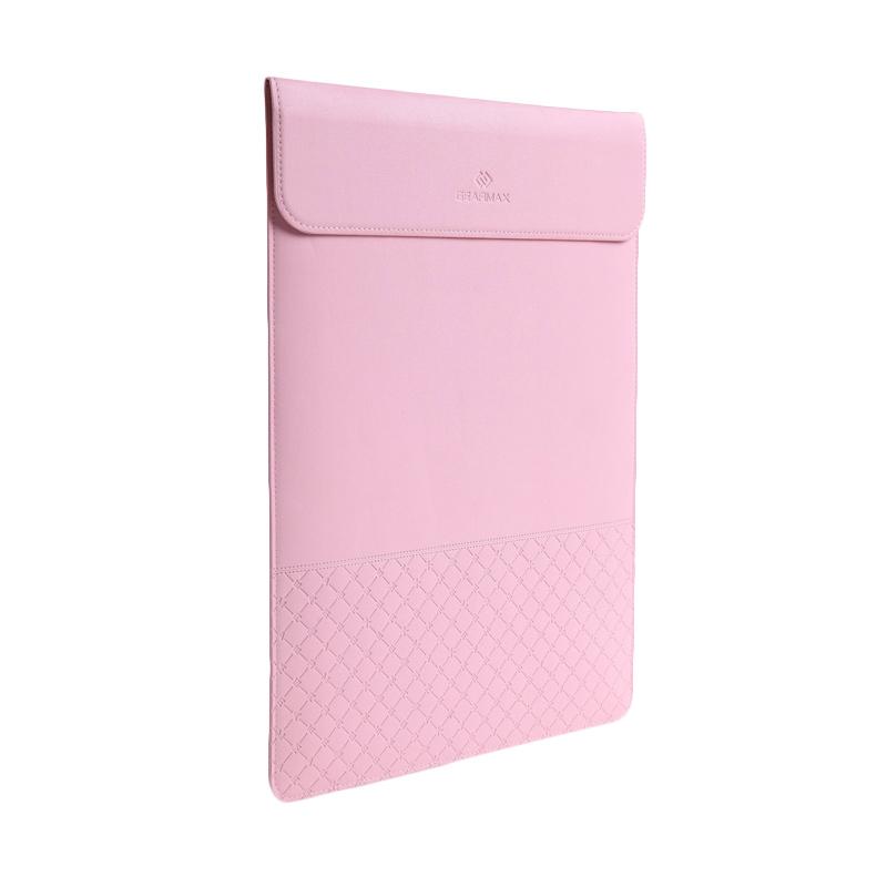harga Tokuniku Original Gearmax Premium GM4028 Ultra-thin Envelope Waterproof PU Leather Sleeve Bag Laptop Case with Mouse Pad for Macbook - Pink [13.3 Inch] Blibli.com
