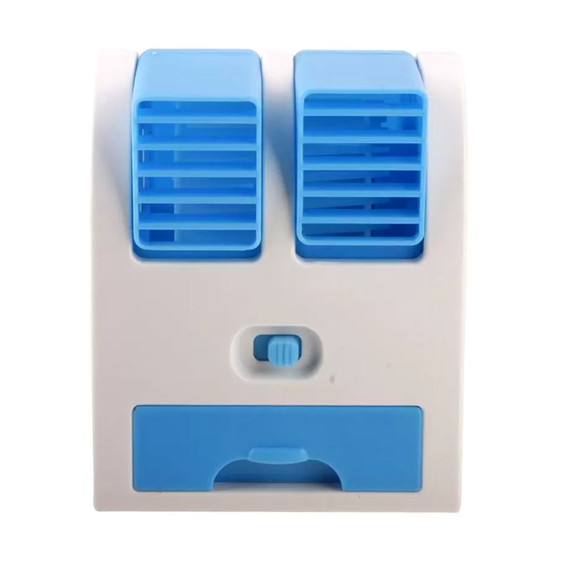 Kipas Angin Mini AC Portable Duduk Twin Double Fan Parfum