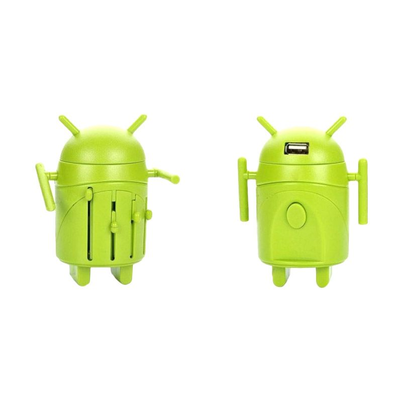 Universal Android Robot Hijau Travel Adapter
