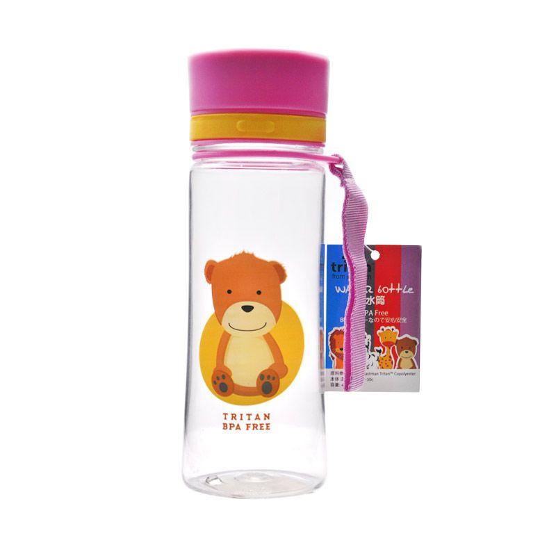 Tokyo1 Botol Minum Bear-400 mL Tritan Pink