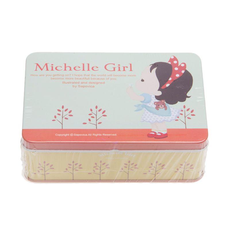 Tokyo1 Michelle Girl Square Tin Box