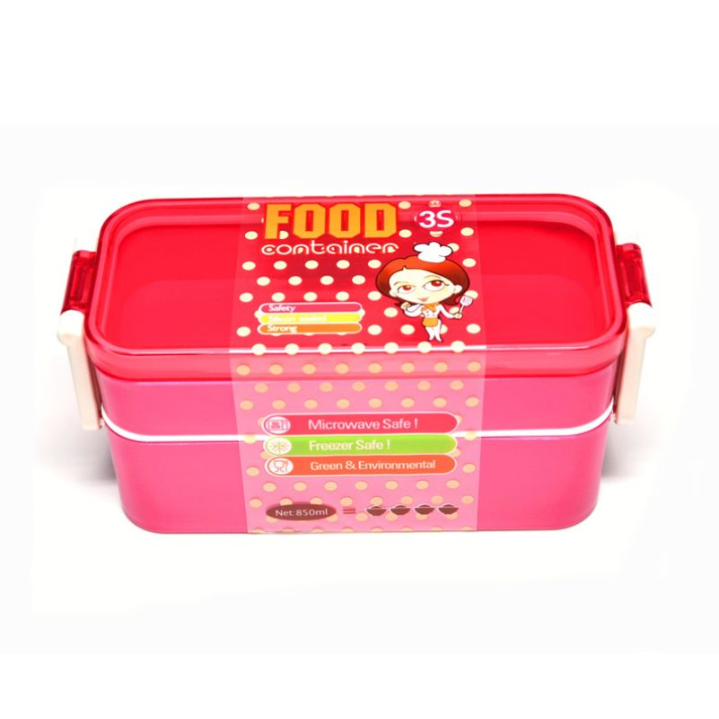 Tokyo1 Pink Kotak Makan [2 Tingkat]