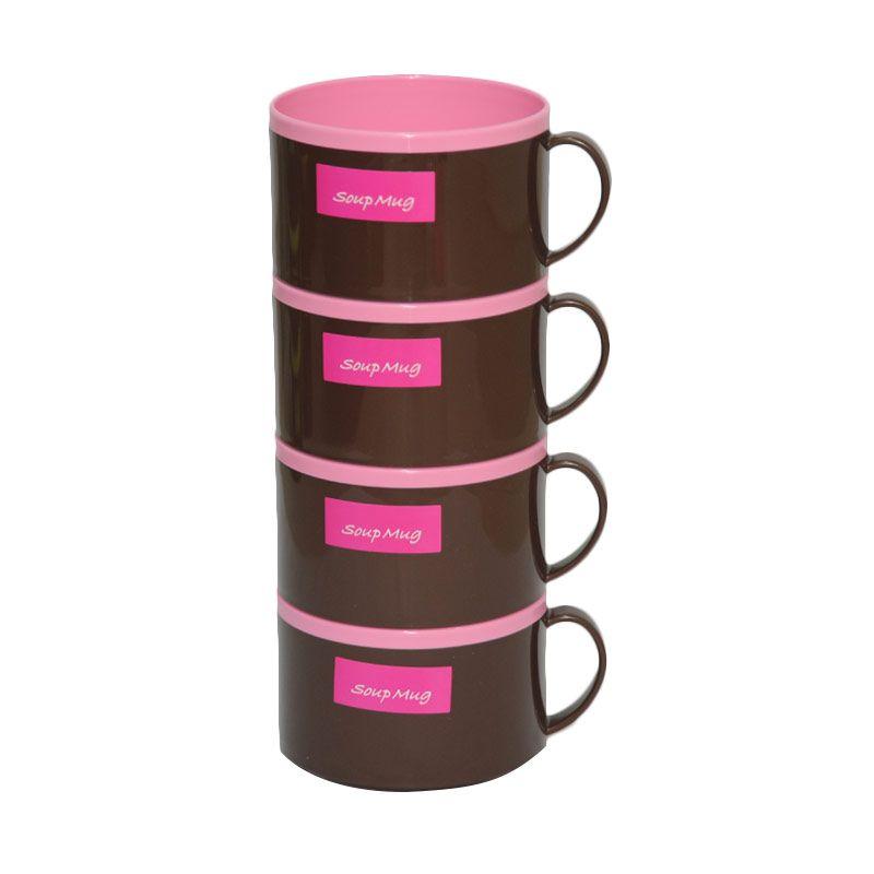 Tokyo1 Soup Mug Pink 4 Pcs