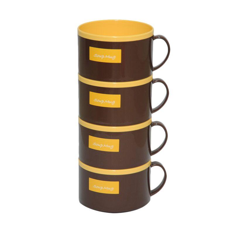 Tokyo1 Soup Mug Yellow 4 Pcs
