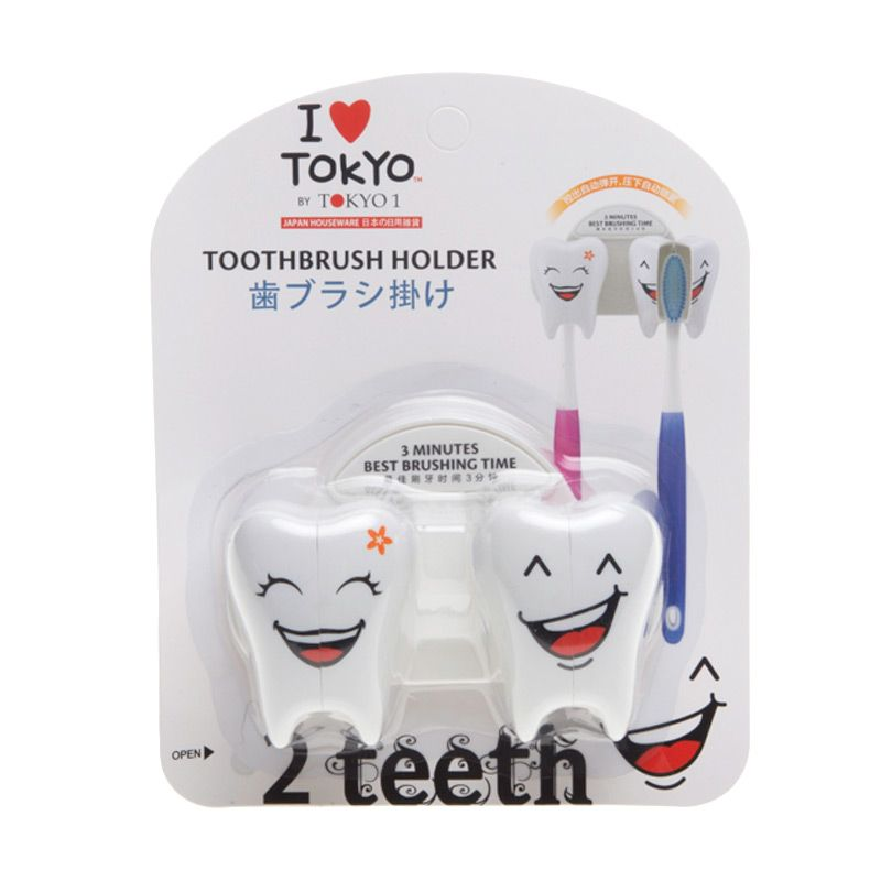 Tokyo1 Toothbrush Holder 2 Teeth White
