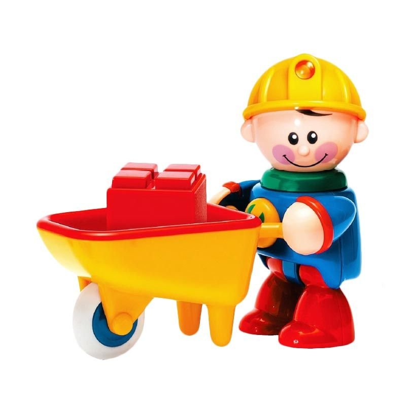 Tolo First Friends Construction Worker With Wheelbarrow