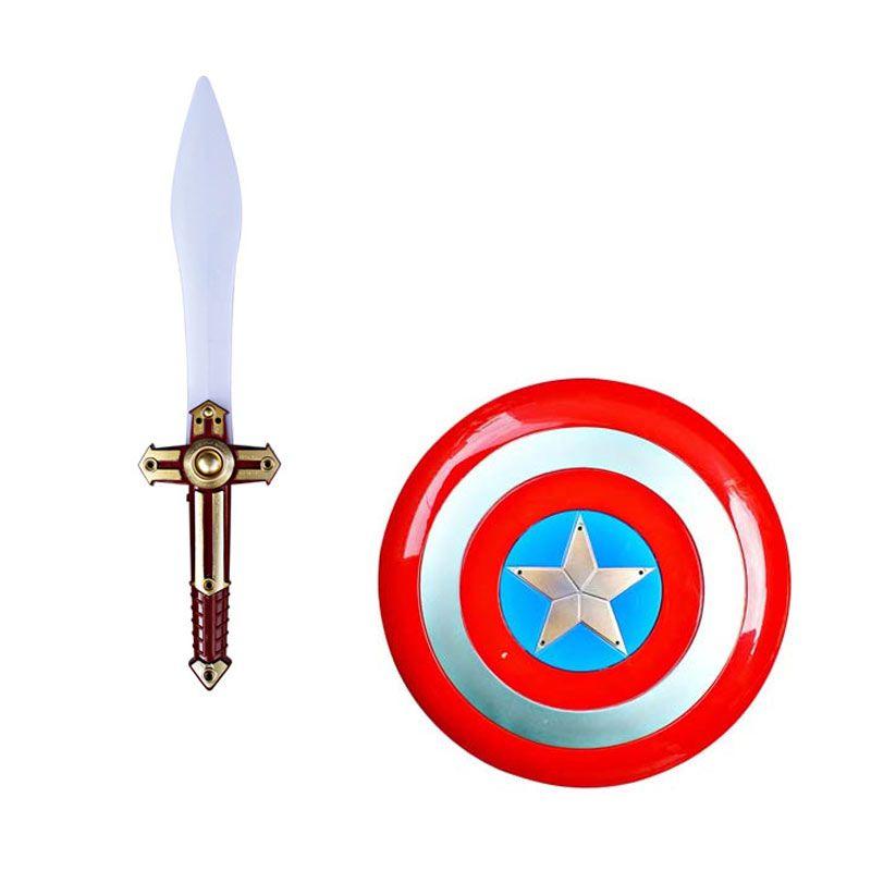 Tomindo Captain America Shield and Sword Mainan Anak
