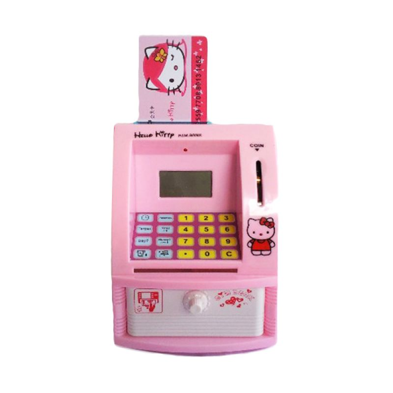 Tomindo Celengan ATM Hello Kitty Pink Mainan Anak