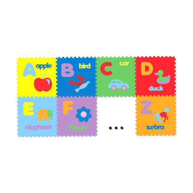 Tomindo Evamat Puzzle huruf gambar Mainan Anak [30 x 30 x 1 cm]