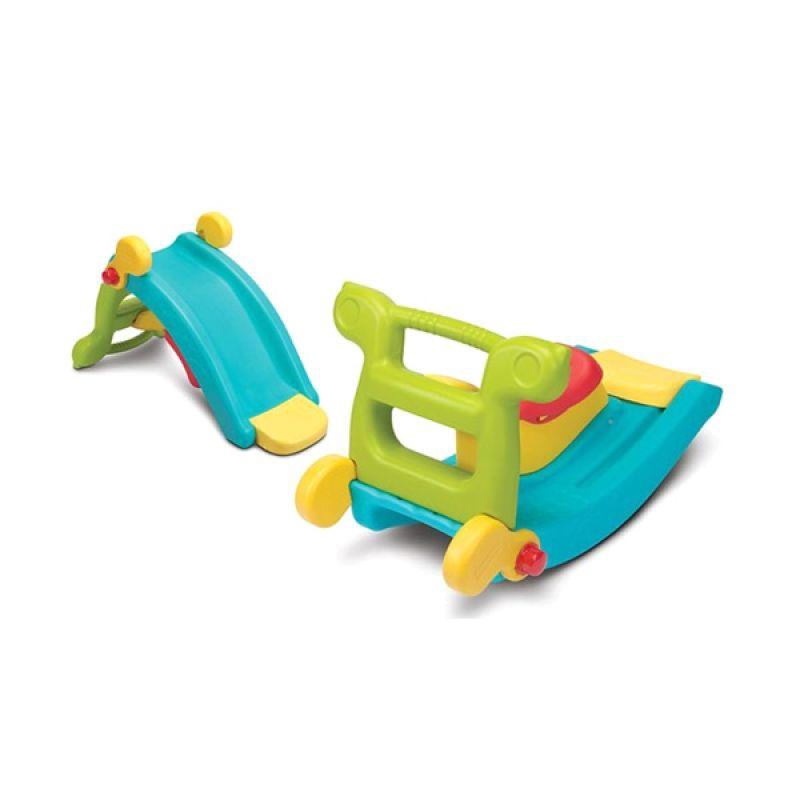 Tomindo Grow N Up 2 in 1 Slide to Rocker Set Mainan Anak