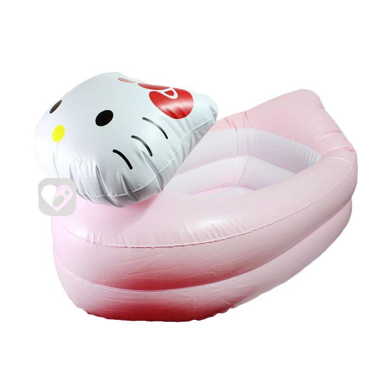 Tomindo Hello Kitty Inflatable Bath Tub Putih Tempat Mandi Bayi