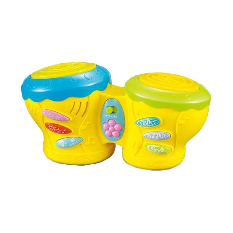 Tomindo Multifunctional Pat Drum Hijau Mainan Anak
