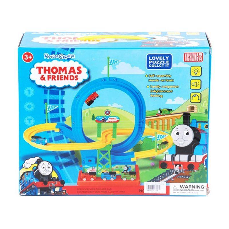 Tomindo Thomas Biru Roller Coaster Mainan Anak