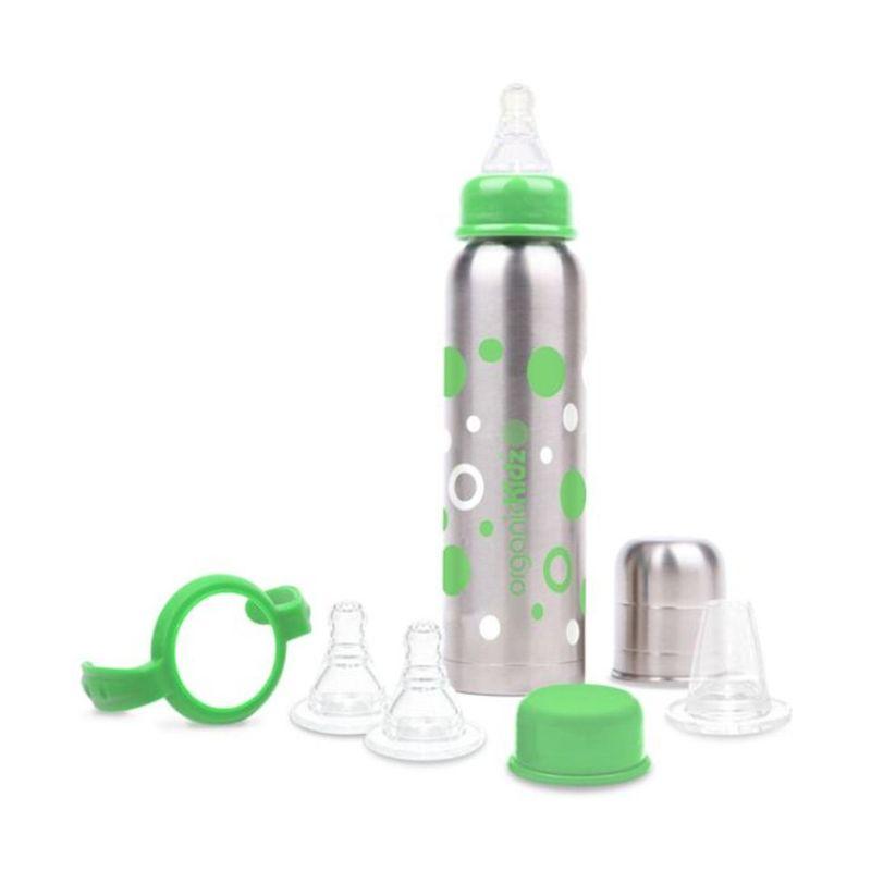 organicKidz Baby Grows Up Narrow Necked Green Botol Susu Bayi [270 mL]