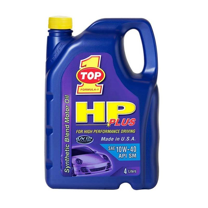 Top 1 HP Plus 10W-40 Synthetic Pelumas Mobil [4 Liter]