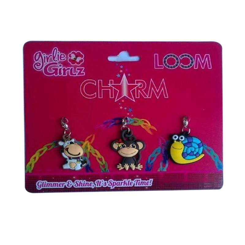 TOPModel Girlie Girlz TM3216 Single Side Charm for Jewelry [3 Pcs]