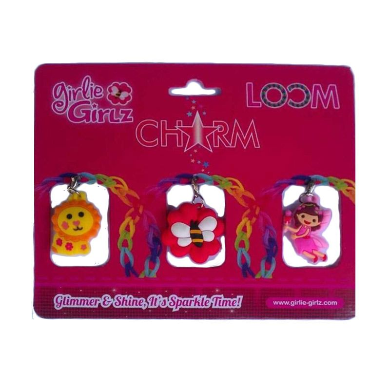 Girlie Girlz Double Side Charm for Jewelry 32171 Kerajinan Tangan
