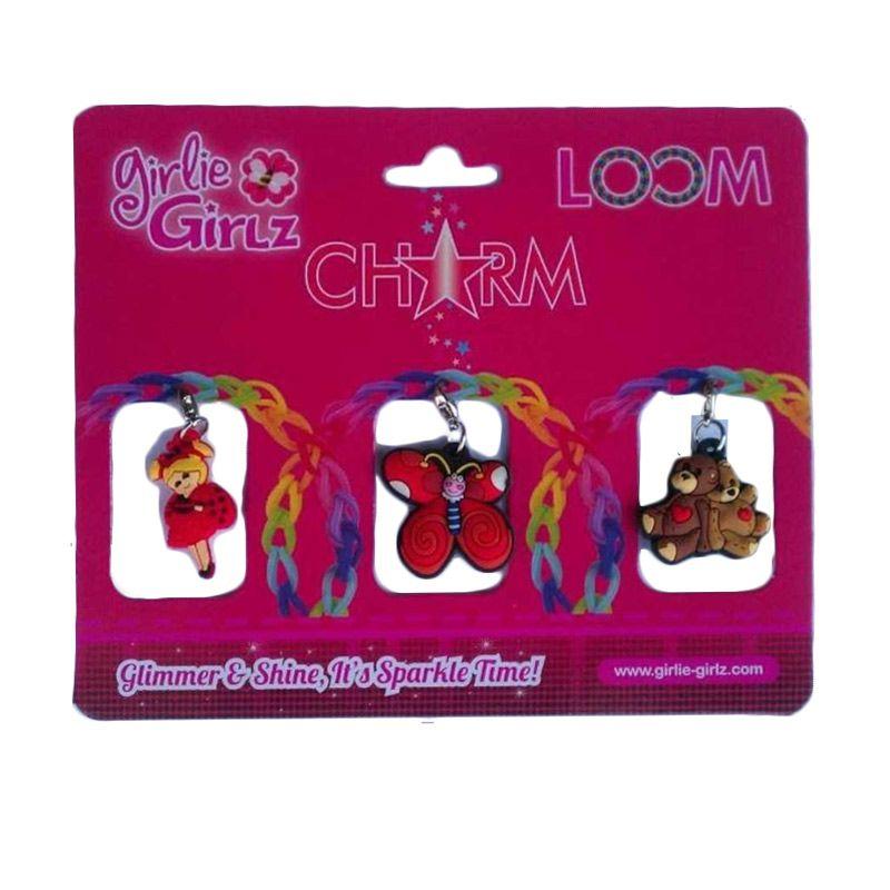 Girlie Girlz Double Side Charm for Jewelry 32172 Kerajinan Tangan