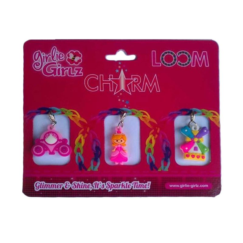 Girlie Girlz Double Side Charm for Jewelry 32173 Kerajinan Tangan