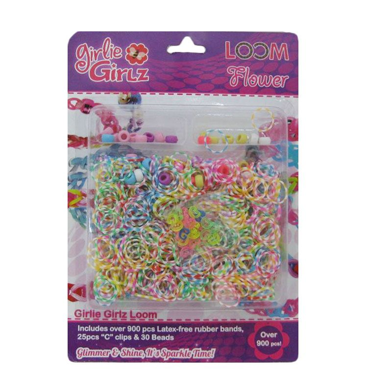 Girlie Girlz Flower Set Loom Bands [Large]