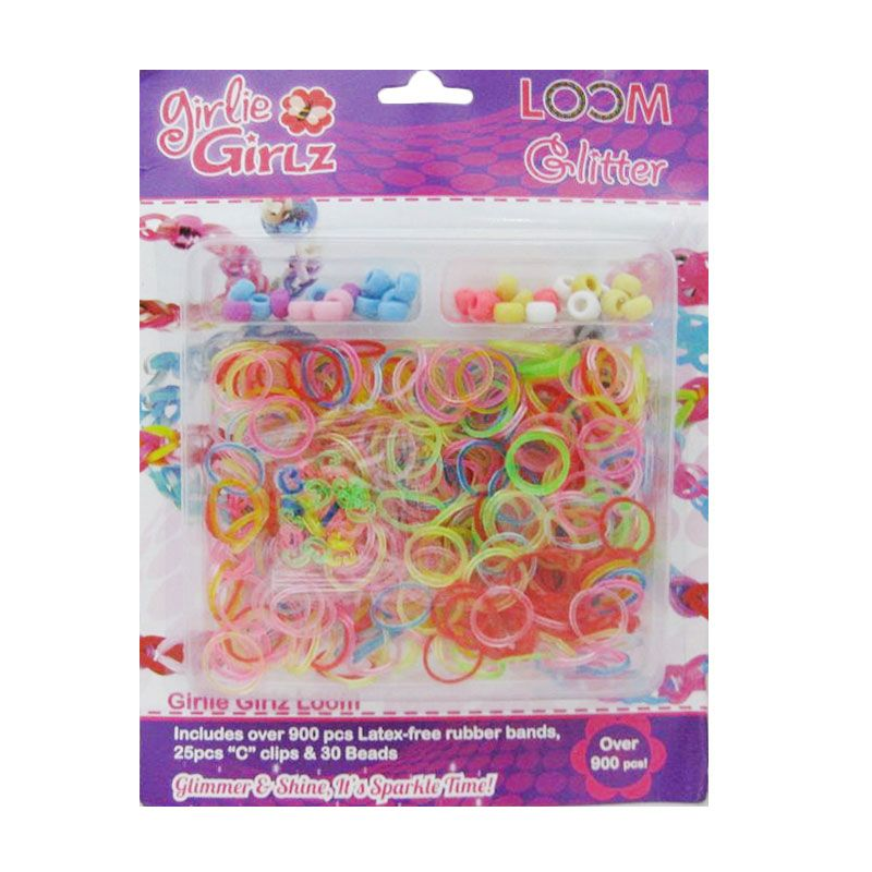 Girlie Girlz Glitter Set Loom Bands [Large]