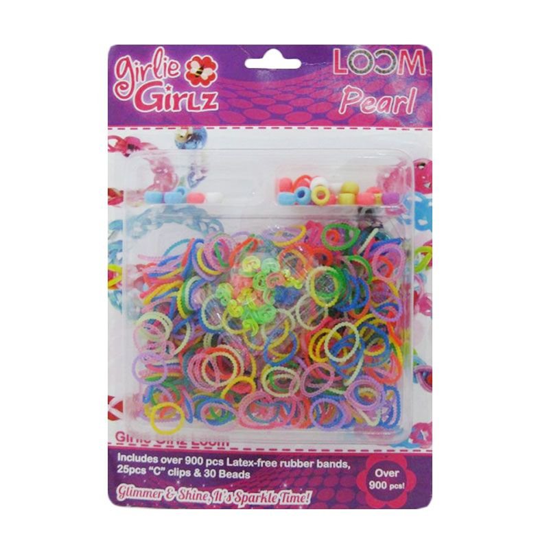 Girlie Girlz Pearl Set Loom Bands  [Large]
