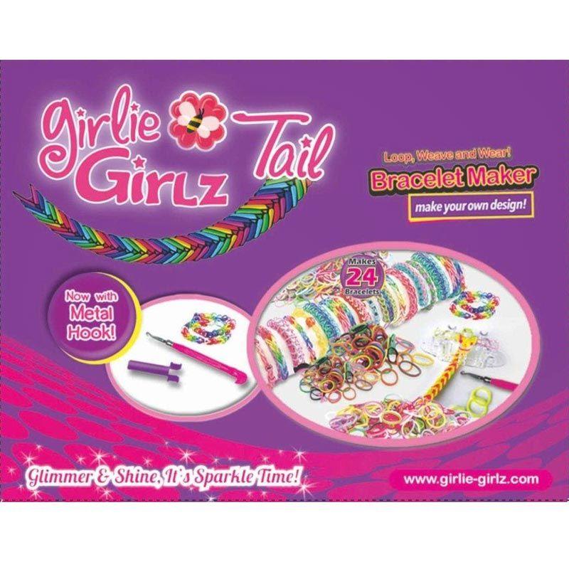 Girlie Girlz Tail Loom Bands Starter Pack Kit Bracelet Maker