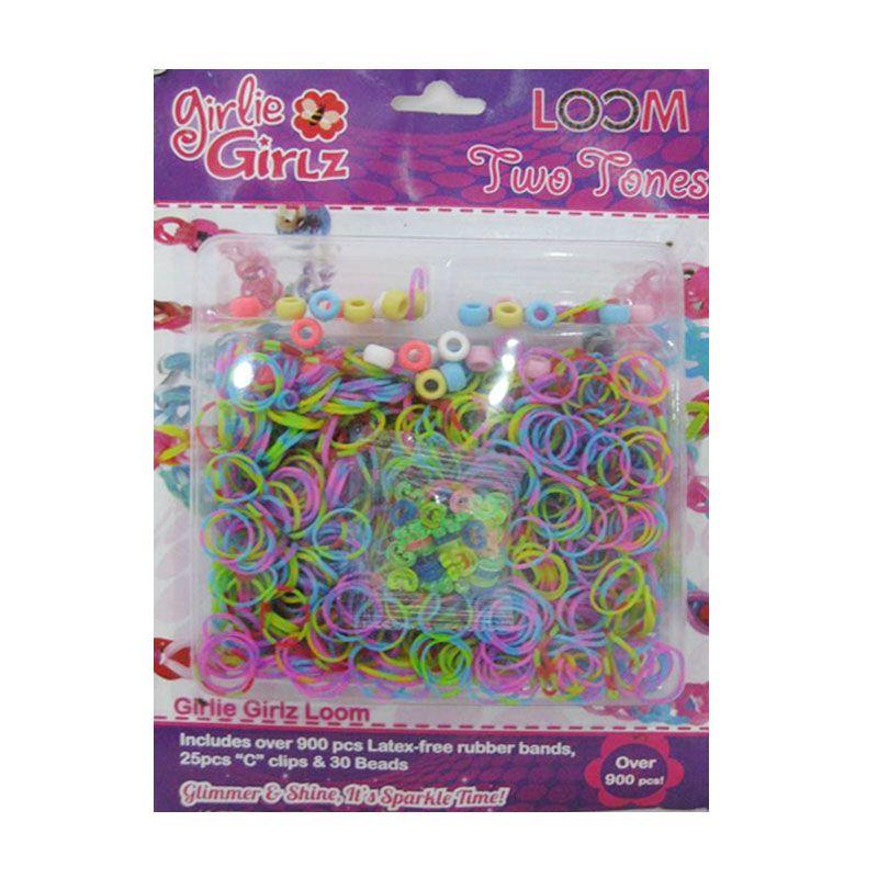 Girlie Girlz Two Tones Set Loom Bands [Large]