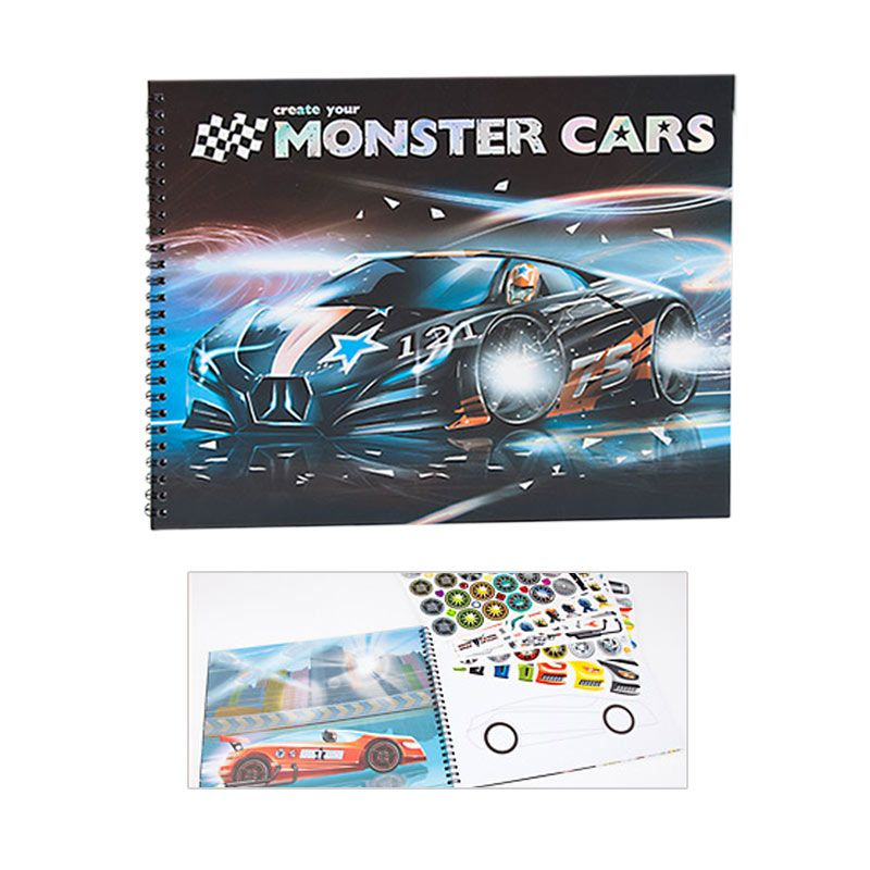 TOP Model TM6025 Create your Monster Cars Colouring Book