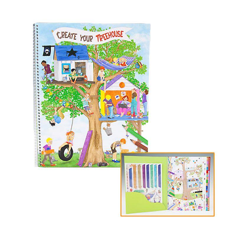 Top Model Create Your Tree House Buku Mewarnai