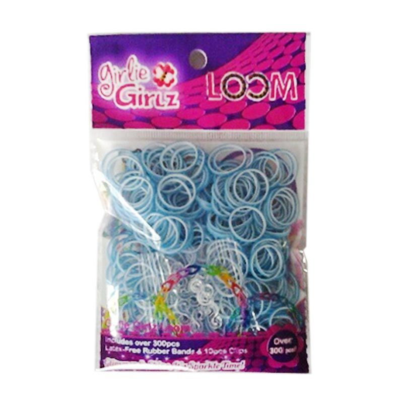 TOPModel Girlie Girlz Double Colour TM3228 Rubber Loom Band & Clip Refill Pack [Small]