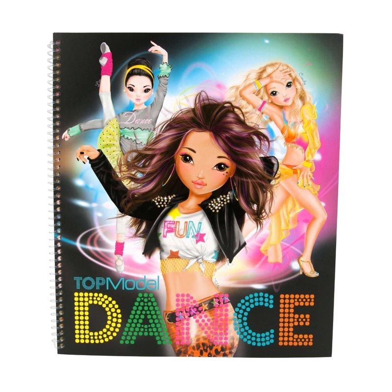 TOPModel Dance Black Colouring Book