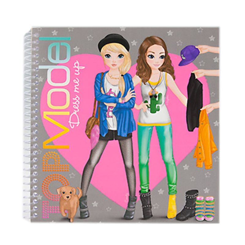 TOPModel Dress Me Up Sticker Book TM 7999 Mainan Anak