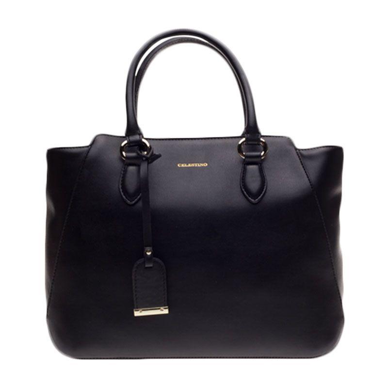 Celestino Admiralty Black Satchel Bag Tas Selempang [L]