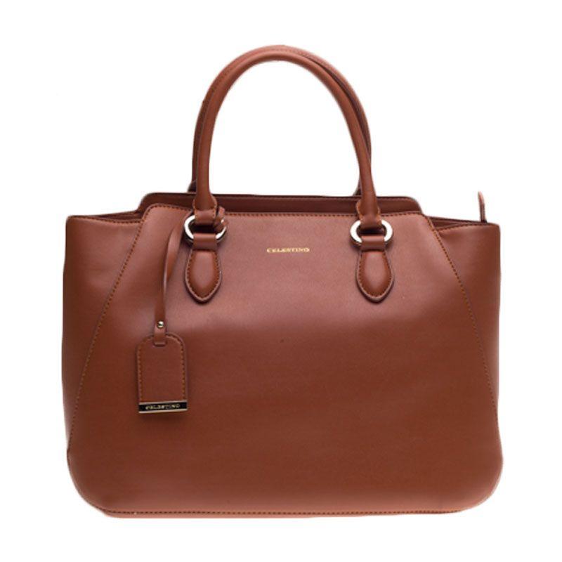 Celestino Admiralty Brown Satchel Bag Tas Selempang [L]