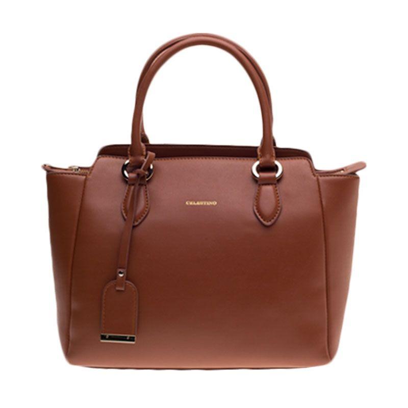 Celestino Admiralty Brown Satchel Bag Tas Selempang [M]